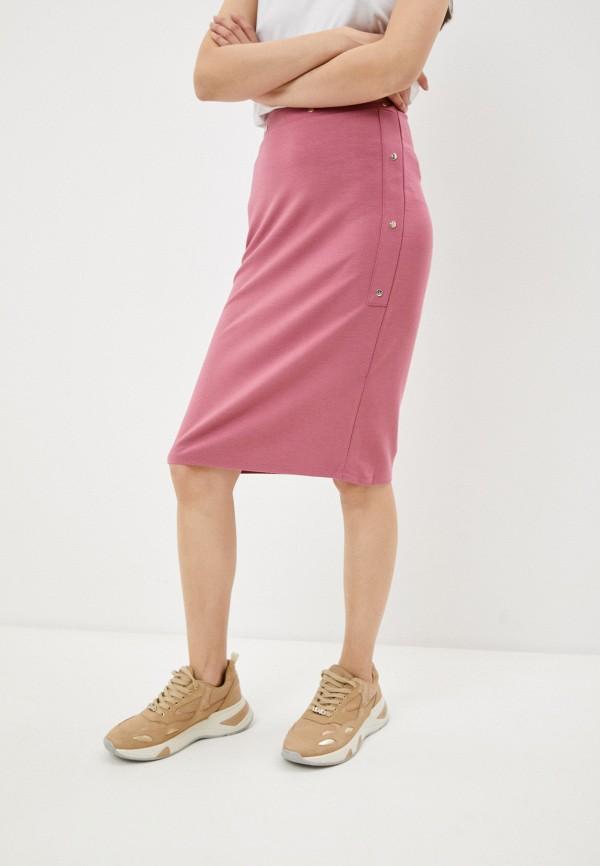 женская узкие юбка liu jo sport, розовая