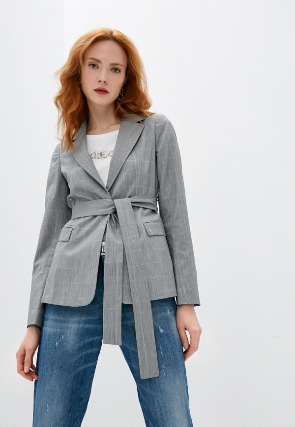 женский пиджак liu jo, серый