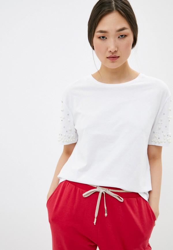 женская футболка liu jo, белая