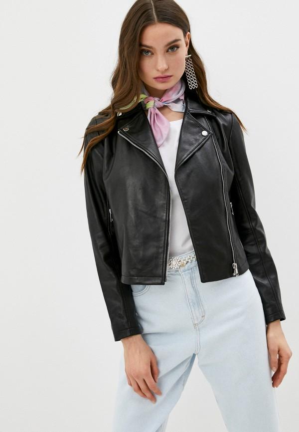 женская куртка косухи liu jo, черная