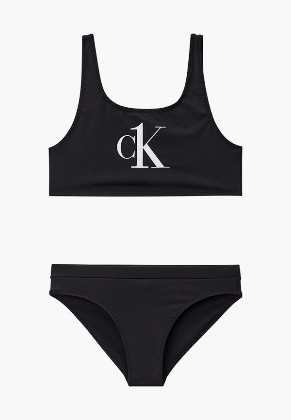 купальник calvin klein для девочки, черный
