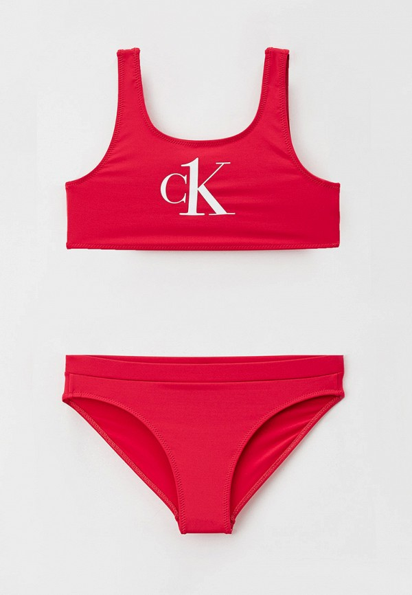 купальник calvin klein для девочки, розовый