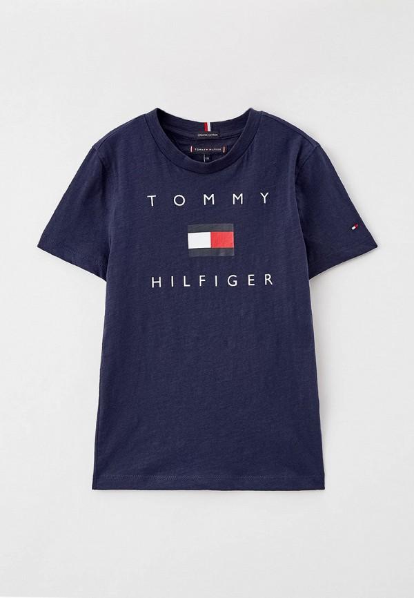 футболка с коротким рукавом tommy hilfiger для мальчика, синяя
