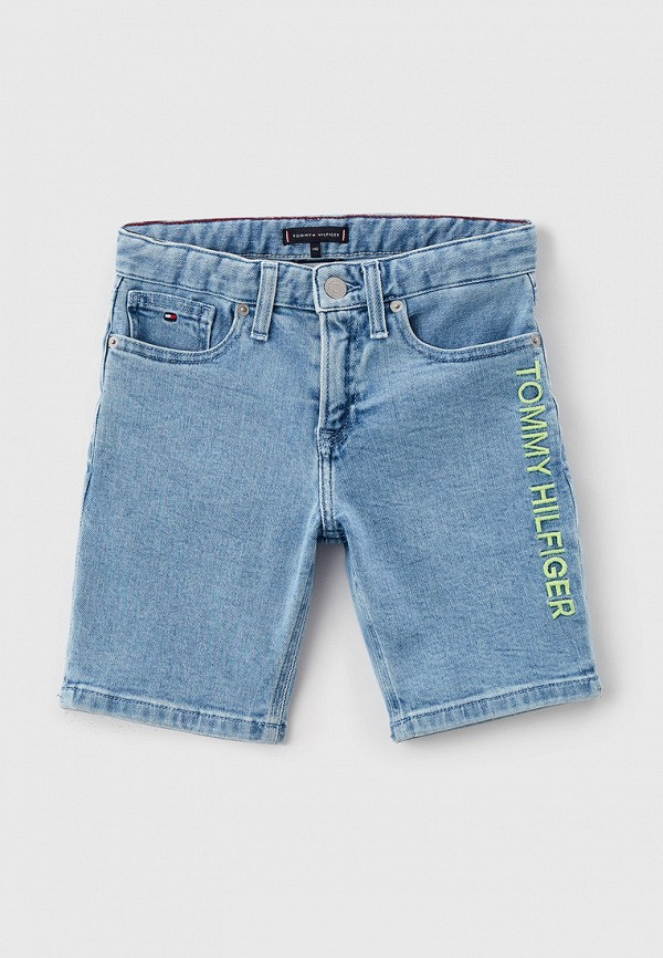 джинсовые шорты tommy hilfiger для мальчика, голубые