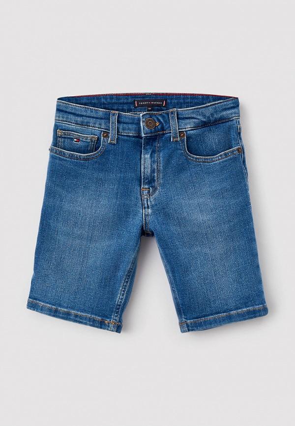 джинсовые шорты tommy hilfiger для мальчика, синие