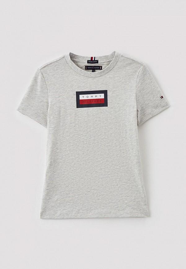 футболка с коротким рукавом tommy hilfiger для мальчика, серая