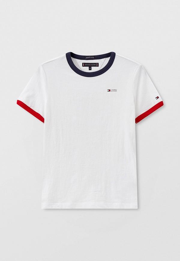 футболка с коротким рукавом tommy hilfiger для мальчика, белая