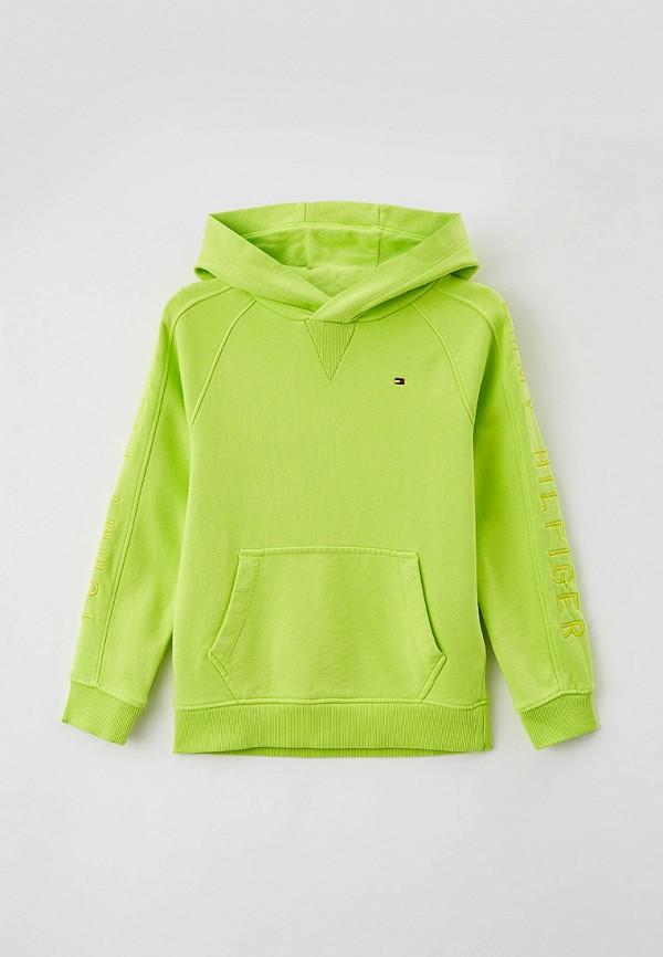 худи tommy hilfiger для мальчика, зеленые