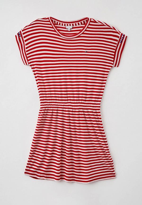 повседневные платье tommy hilfiger для девочки, красное