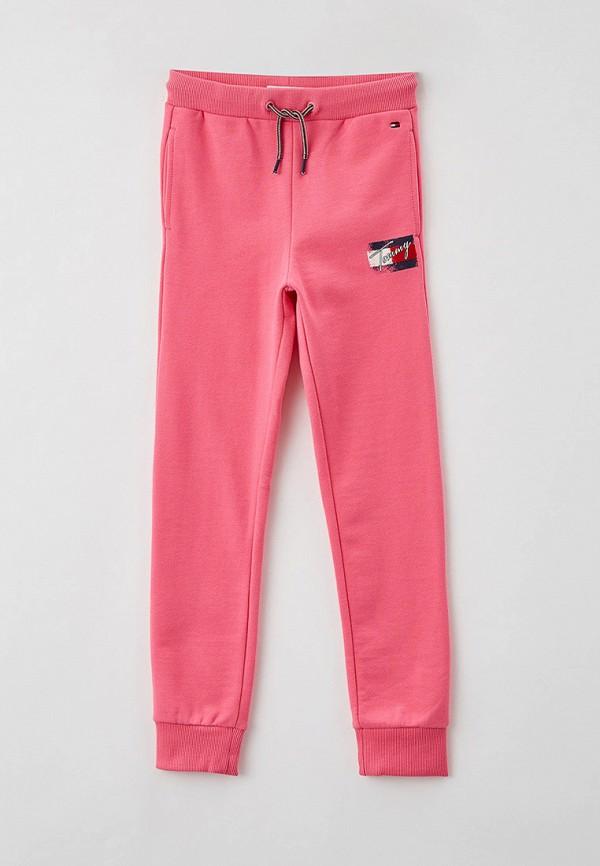 спортивные брюки tommy hilfiger для девочки, розовые