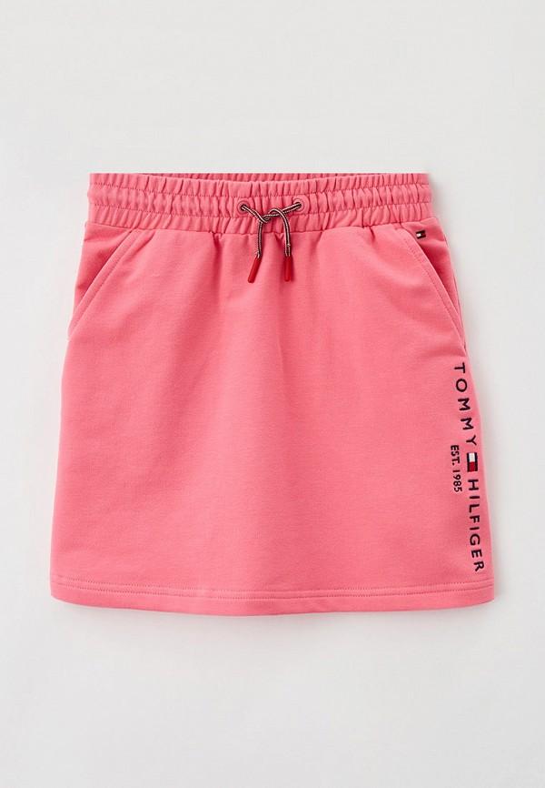 юбка tommy hilfiger для девочки, розовая
