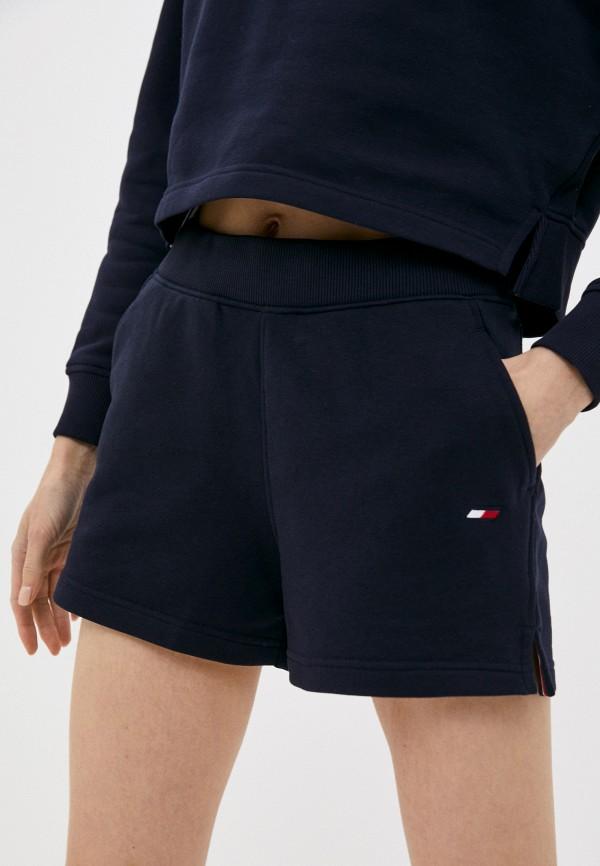 женские спортивные шорты tommy hilfiger, синие