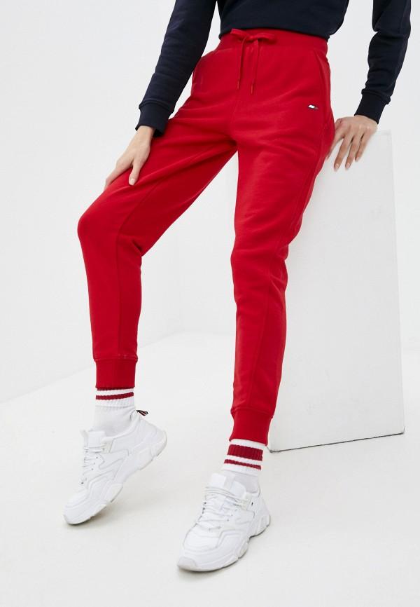 женские спортивные брюки tommy hilfiger, красные