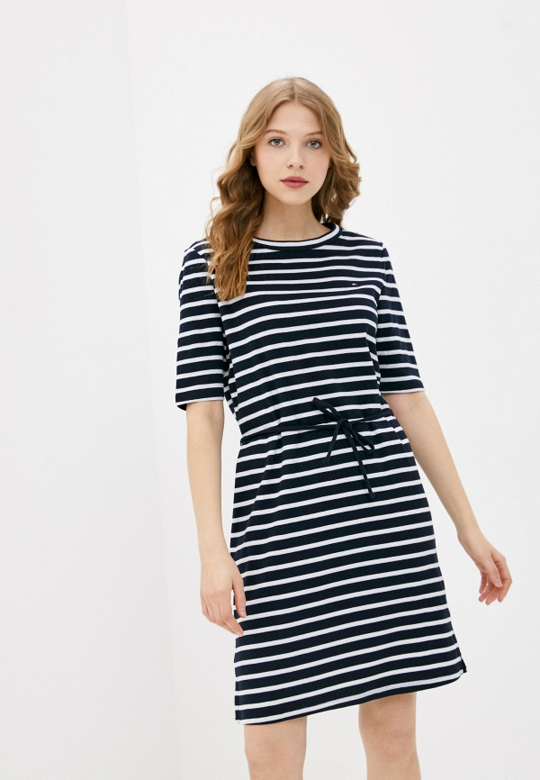 женское платье-футболки tommy hilfiger, синее