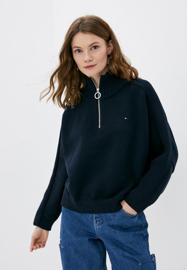 женский свитер tommy hilfiger, синий