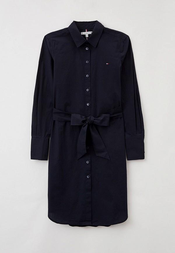женское платье-рубашки tommy hilfiger, синее