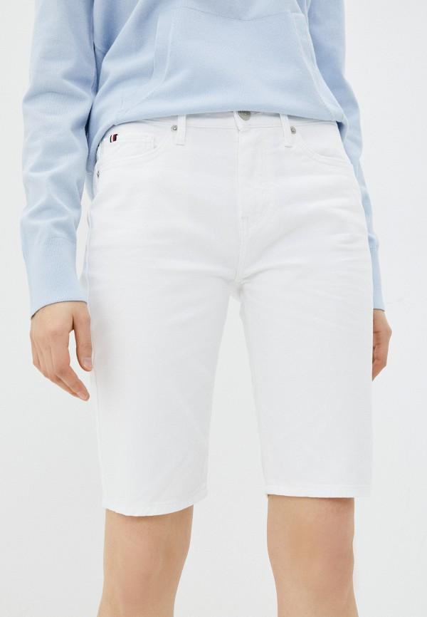 Шорты джинсовые Tommy Hilfiger белого цвета