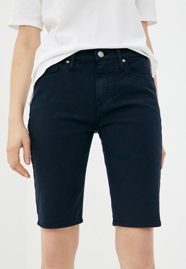 женские джинсовые шорты tommy hilfiger, синие