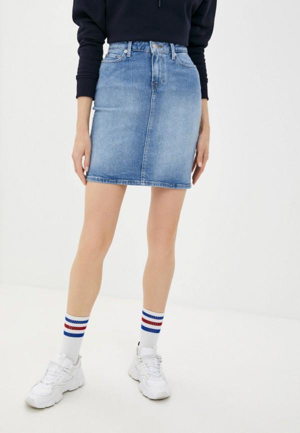 Юбка джинсовая Tommy Hilfiger голубого цвета