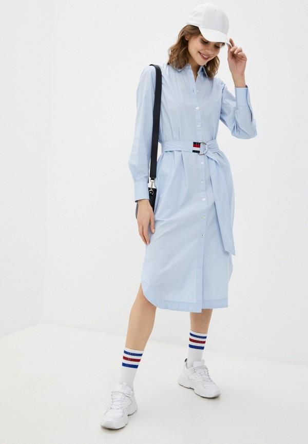 Платье Tommy Hilfiger голубого цвета