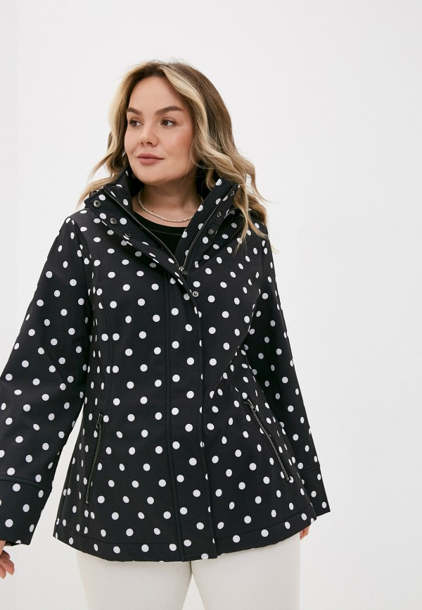 женская куртка ulla popken, черная