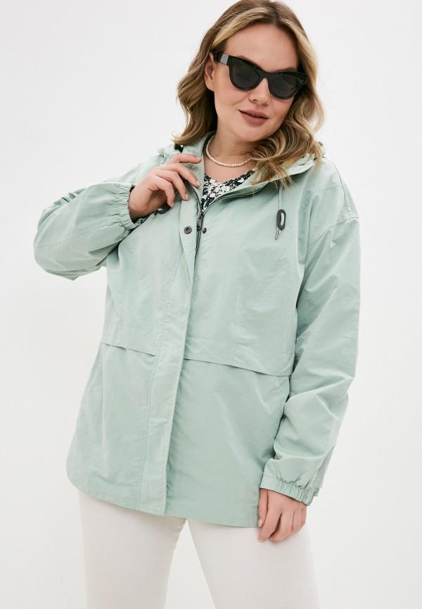женская куртка ulla popken, зеленая