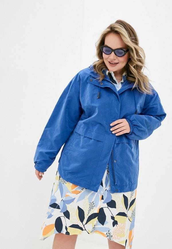 женская куртка ulla popken, синяя