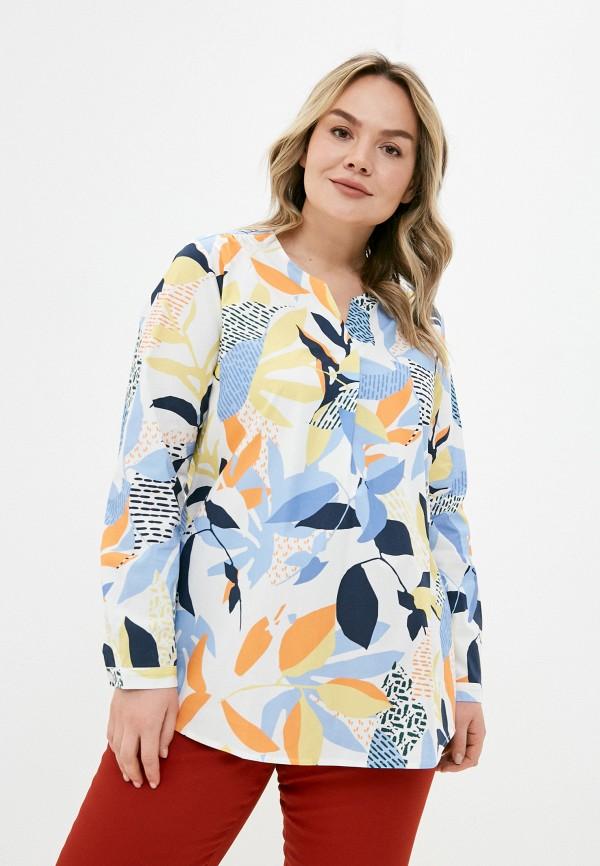 женская блузка ulla popken, бежевая
