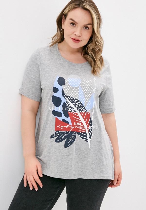 женская футболка ulla popken, серая