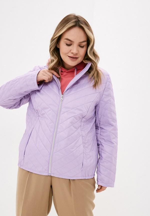 женская куртка ulla popken, фиолетовая