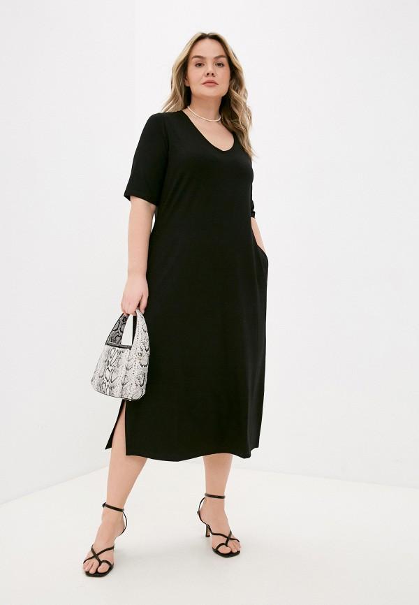 женское платье ulla popken, черное