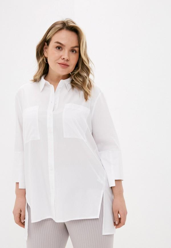 женская рубашка с длинным рукавом ulla popken, белая