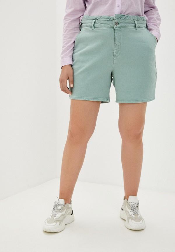 женские повседневные шорты zizzi, зеленые