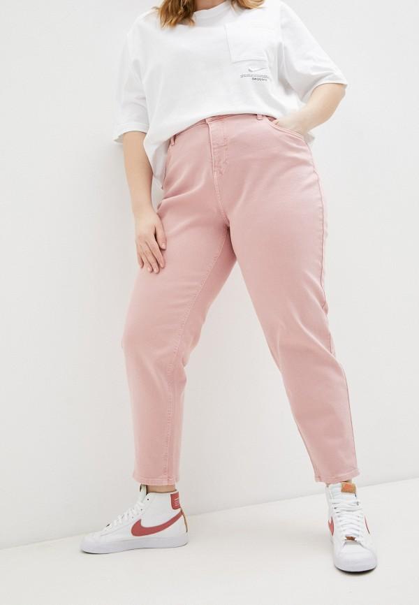 женские зауженные брюки zizzi, розовые