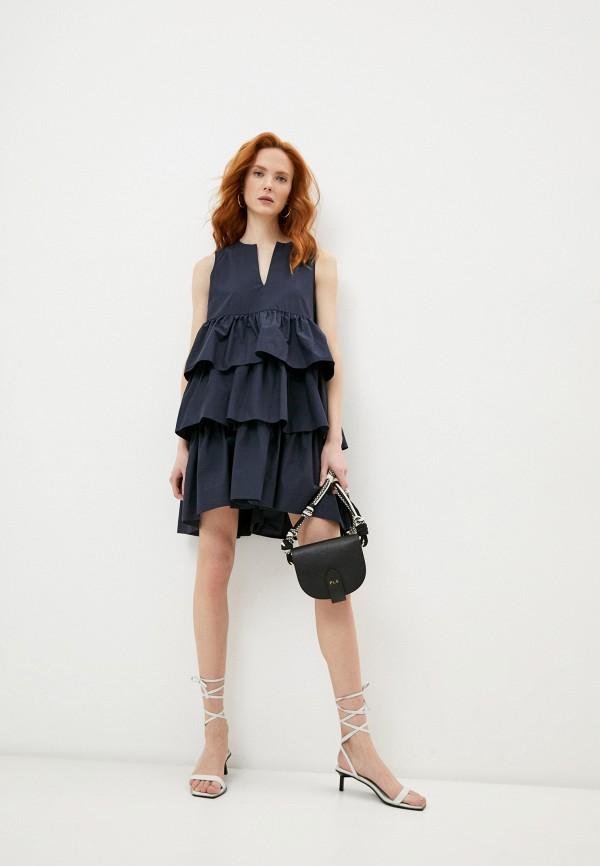 женское повседневные платье p.a.r.o.s.h, синее