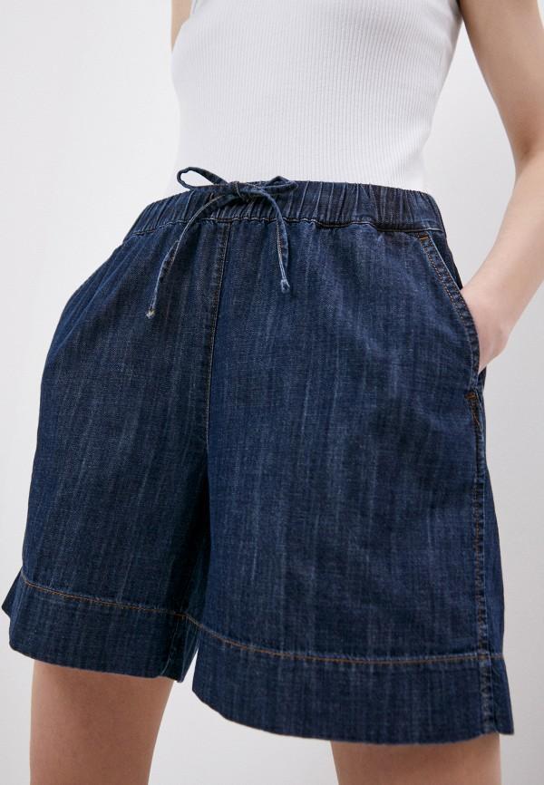 женские джинсовые шорты p.a.r.o.s.h, синие