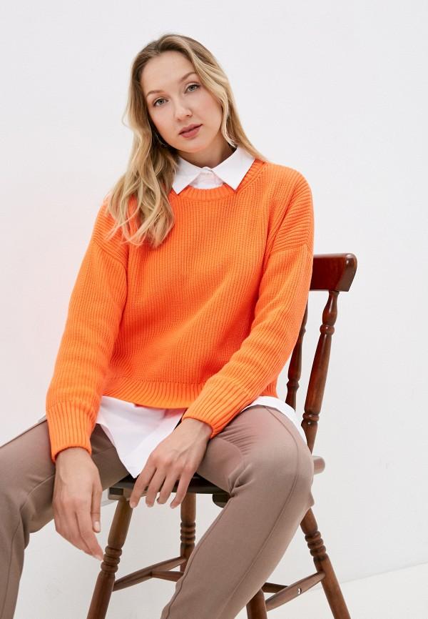 женский джемпер nataliy beate, оранжевый