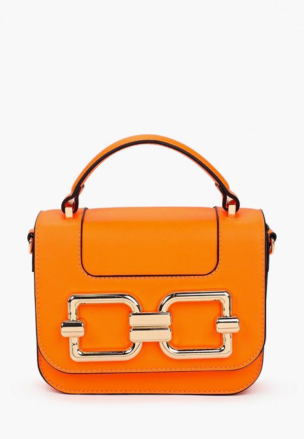 женская сумка с ручками aldo, оранжевая