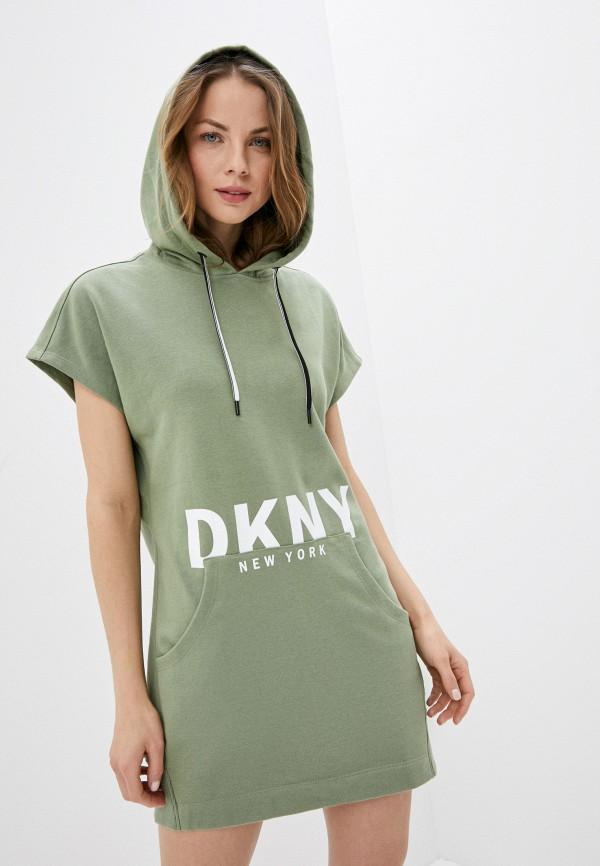 женское платье dkny, зеленое