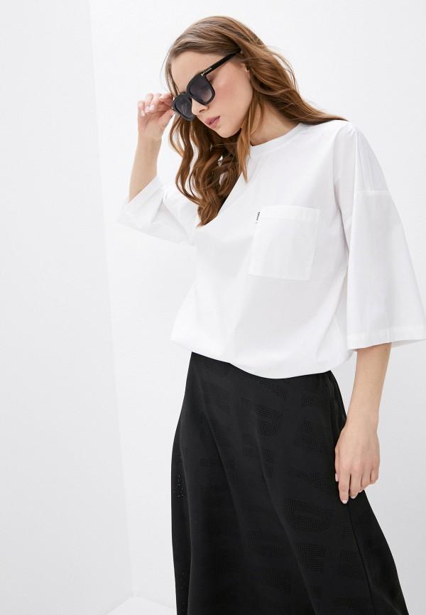 женская блузка dkny, белая