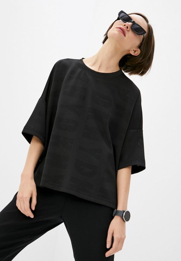 женская футболка dkny, черная