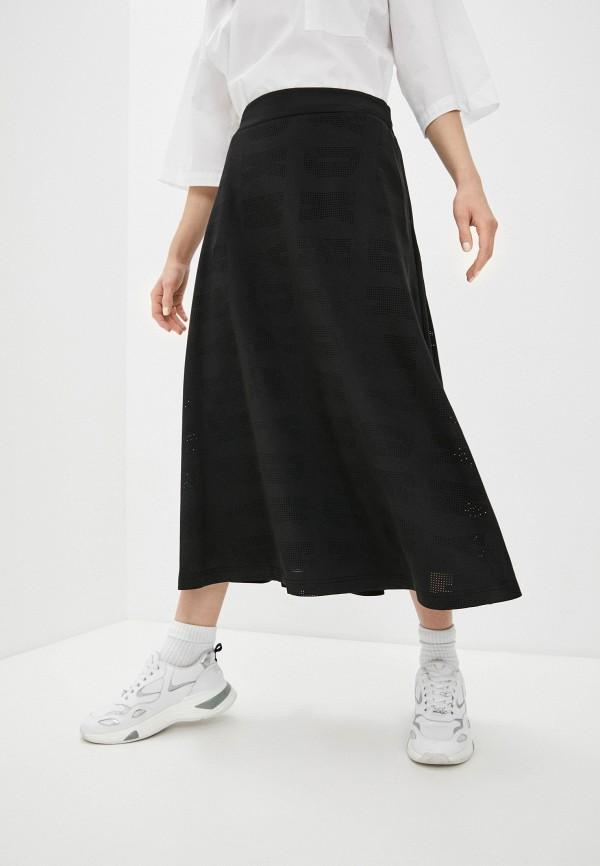 женская юбка-трапеции dkny, черная