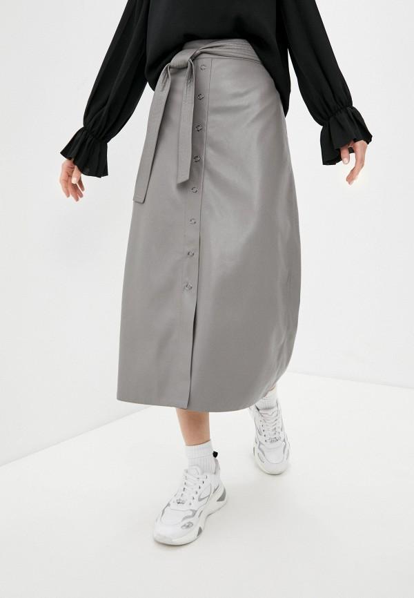 женская юбка dkny, серая