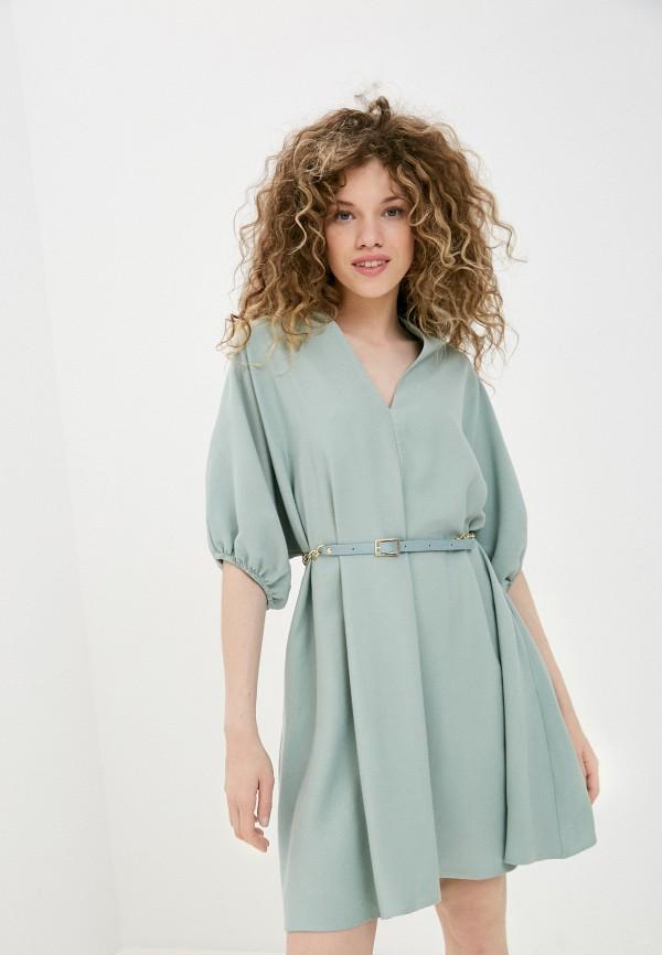 женское повседневные платье imperial, зеленое
