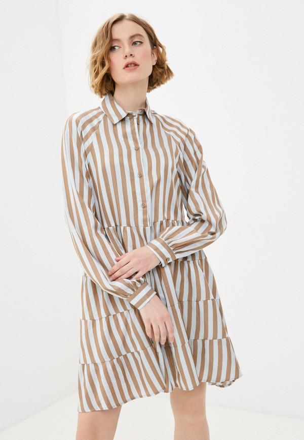 женское платье imperial, коричневое
