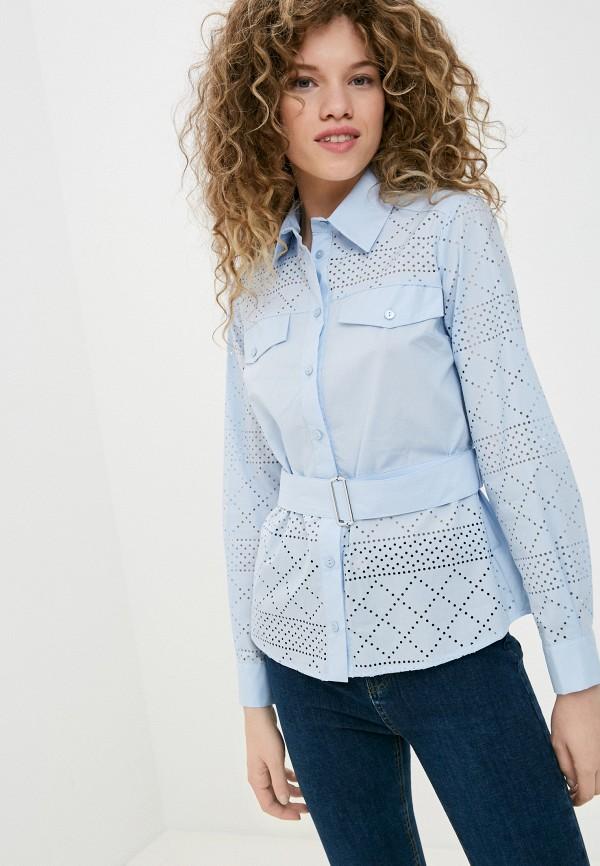 женская рубашка с длинным рукавом imperial, голубая
