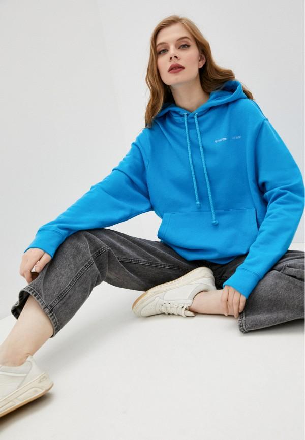 женские худи imperial, голубые