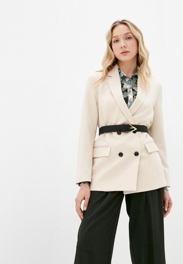 женский пиджак imperial, бежевый