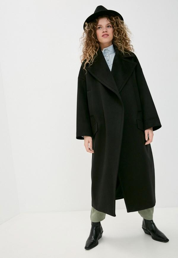 женское пальто imperial, черное