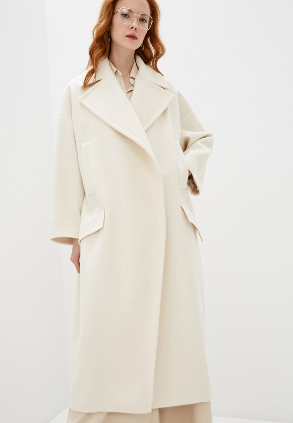 женское пальто imperial, белое